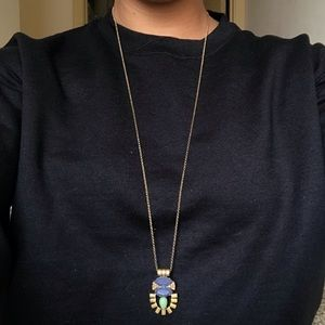 J Crew Long Jeweled Necklace